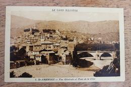 SAINT AMBROIX (30) - VUE GENERALE ET PONT DE LA CEZE - Saint-Ambroix