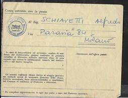 CARTOLINA PRECETTO - DISTRETTO MILITARE MILANO - 1961 - Non Classificati