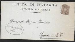 STORIA  POSTALE REGNO - PIEGO DA BRESCIA 23.04.1899 PER GARDONE V. T. - 1878-00 Umberto I