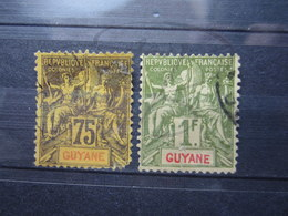 VEND TIMBRES DE GUYANE N° 41 + 42 !!! - Französisch-Guayana (1886-1949)