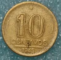 Brazil 10 Centavos, 1945 Getúlio Vargas - Brazil