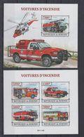 Y82. MNH Burundi  Transport Trucks Fire Trucks Imperf - Camiones