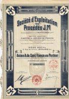 92-PROCEDES J.M. Sté D'Exploitation Des... LEVALLOIS. Action - Aandelen