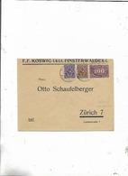 Brief Von Finsterwalde Nach Zürich/Schweiz 1922! - Deutschland