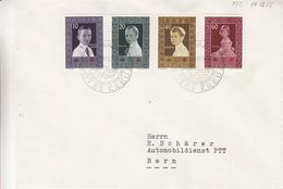 Croix Rouge - Liechtenstein - Lettre FDC De 1955 - Oblit Schaan - Exp Vers Bern - Valeur 45 Euros - Liechtenstein
