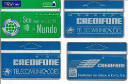 Lot De 4 Télécartes Du PORTUGAL Différentes - Portugal