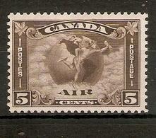CANADA 1930 5c AIR SG 310 MOUNTED MINT Cat £26 - Ungebraucht