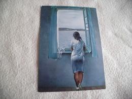 SALVADOR DALI ....JEUNE FILLE A LA FENETRE - Paintings