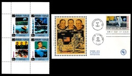 ESPACE - SHARJAH ** MNH Et FDC USA First Man On The Moon   ..Réf.DIV20144 - Spazio