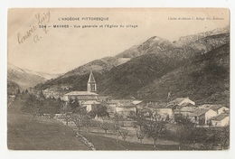 07 Mayres, Vue Générale, église (A2p64) - France