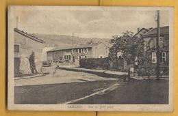 C.P.A. SAULNES - Rue Du Petit Pont - France