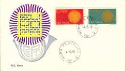 Italia Fdc 1970 Europa. - F.D.C.