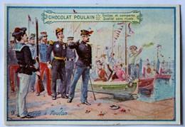 Belle Chromo Chocolat Poulain Arrivée à Toulon Soldat Marin Militaria - Poulain