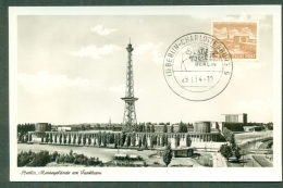 CM-Carte Maximum Card # 1954-Allemagne # Sciences-Télécommunications- Radio -Funk # Funkturm  Radio Berlin - Telecom