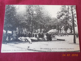 CPA - Janzé - Le Marché Aux Porcs - Francia