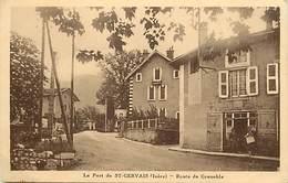 -dpts Div.-ref-AB431- Isere - Saint Gervais - St Gervais - Route De Grenoble - Carte Bon Etat - - Francia