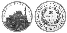 AC - ZAGNOS PASHA MOSQUE BALIKSESIR COMMEMORATIVE SILVER COIN TURKEY 2018 PROOF UNCIRCULATED - Turquia