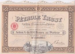 TITRE ACTIONS - PETROLE TRUST - Pétrole