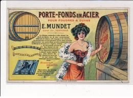 PUBLICITE : Porte-fonds En Acier Four Foudres & Cuves, Perpignan - Etat (recollée) - Advertising