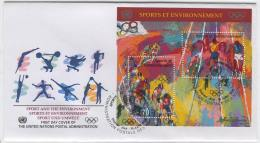 FDC A84 UN Geneva 1996 Block Olympic Games Cycling - Unclassified
