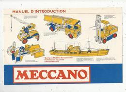 Catalogue MECCANO , Manuel D'introduction , 8 Pages ,  3 Scans , Frais Fr 1.85 E - Meccano