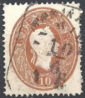 Austria 1860 Effigie Di F. Giuseppe I, 10k Bruno #  Michel 21 - Scott 15 - Unificato 20 USATO - 1850-1918 Impero