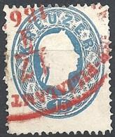 Austria 1860 Effigie Di F. Giuseppe I, 15k Azzurro #  Michel 22 - Scott 16 - Unificato 21 USATO - 1850-1918 Impero