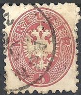 Austria, 1864 Aquila Bicipite, 5k Rosa D.9½, F. BRIEF... #  Michel 32 - Scott 24 - Unificato 29 USATO - 1850-1918 Impero