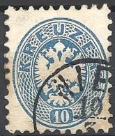 Austria, 1864 Aquila Bicipite, 10k Azzurro D.9½, F. BRIEF... #  Michel 33 - Scott 25 - Unificato 30 USATO - 1850-1918 Impero