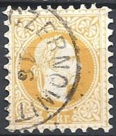Austria, 1874 Effigie Di F. Giuseppe I, 2k Giallo, Stampa Fine D.9½ #  Michel 35IA - Scott 34 - Unificato 32I USA - 1850-1918 Impero
