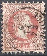 Austria, 1874 Effigie Di F. Giuseppe I, 5k Rosso, Stampa Fine D.9½ #  Michel 37IA - Scott 36 - Unificato 34I USAT - 1850-1918 Impero