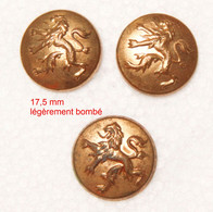 Militaria-bouton-07_3 Petits Boutons Lion Héraldique_Belgique - Boutons