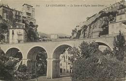 -dpts Div.-ref-AB401- Monaco - La Condamine -ravin Et Eglise Sainte Devote - Carte Bon Etat - - La Condamine