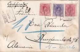 ESPAGNE 1912 LETTRE RECOMMANDEE DE MADRID - Storia Postale