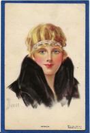 CPA Portrait Femme Girl Femme Women Glamour Beauté Circulé Mode - 1900-1949