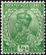 India 1912 - King George V ( Mi 76 - YT 76 ) MH* - 1911-35 Roi Georges V