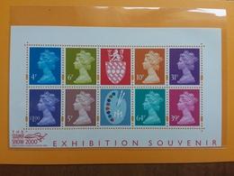 GRAN BRETAGNA - BF 9 Expo Mondiale Del 2000 - Nuovo ** + Spese Postali - Blocchi & Foglietti