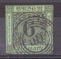 Bade - 1851/52 - N° 3 Oblitéré - Bade