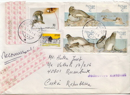 Postal History Cover: Portugal / Madeira R Cover With Seals Set - Marine Mammals