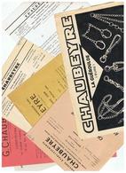 LOT DOCUMENTS  G . CHAUBEYRE USINES METALLURGIQUES DE LA GUEROULDE (EURE) - Advertising