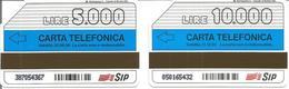 2 Télécartes D'ITALIE - SIP 5 000 Et 10 000 Lires  - Expiration 1995/1996 - Italie