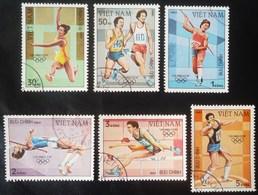 LOTE DE SEIS SELLOS DE VIETNAM. TEMA JUEGOS OLIMPICOS DE LOS ANGELES 1984 - Kampuchea