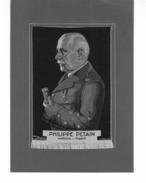 Portrait De Philippe Pétain Maréchal De France Sur Soie, D'époque - Documents Historiques