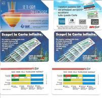 6 Télécartes D'ITALIE - SIP 5 000, 10 000 Et 15 000 Lires  - Expiration 1992 à 1995 - Italie