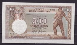 Serbie 1942 - 500 Din. UNC(d) - Serbia