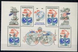 World Hemispheres, UPU Emblem - Czechoslovakia 1984 - Sheet MNH** - Tchécoslovaquie