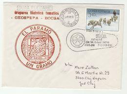 JULIUS POPPER MINERALOGIST  EVENT COVER 1989 ROMANIA  Polar Antarctic Explorer Gold Mining Minerals Dog Dogs - Minerals