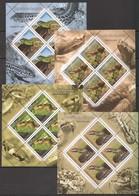 QQ045 2011 ROMANIA FAUNA REPTILES REPTILE DIN ROMANIA !!! MICHEL 50 EURO 4KB MNH - Serpents