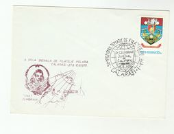 DUMBRAVA POLAR METEOROLOGY EXPEDITION  Anniv EVENT COVER 1978 ROMANIA Stamps  Greenland Arctic Explorer - Polar Exploradores Y Celebridades