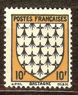 SUPERBE BLASON YT N°573 BRETAGNE NEUF Avec GOMME** - 1941-66 Coat Of Arms And Heraldry